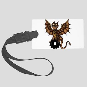 Steampunk Dragon Large Luggage Tag