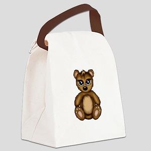 cute Teddy Canvas Lunch Bag