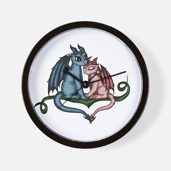 Dragon Couple Wall Clock
