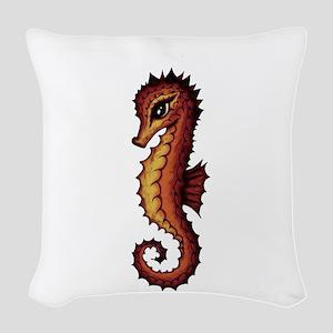 Seahorse Woven Throw Pillow