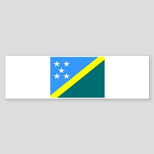 Solomon Island Flag Bumper Sticker