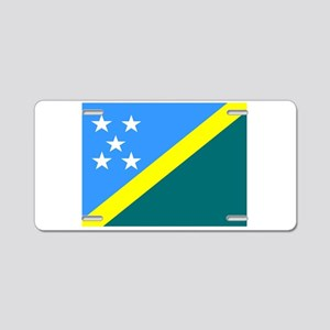 Solomon Island Flag Aluminum License Plate