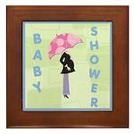 Baby Shower Blue Framed Tile