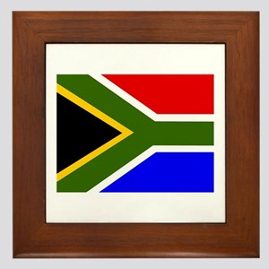 South Africa Flag Framed Tile