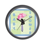 Baby Shower Blue Wall Clock