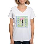 Baby Shower Blue Women's V-Neck T-Shirt