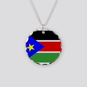 South Sudan Flag Necklace