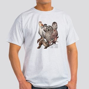 Owls of the Northeast Light T-Shirt