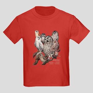 Owls of the Northeast Kids Dark T-Shirt