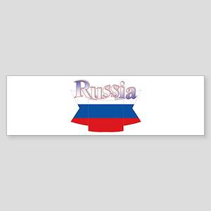 Russian flag ribbon Bumper Sticker