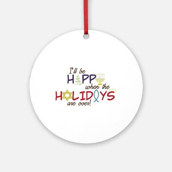 Be happy Ornament (Round)