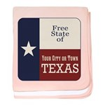 Free State of Texas baby blanket