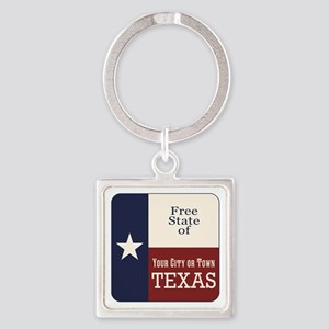 Free State of Texas Keychains