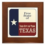 Free State of Texas Framed Tile