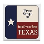 Free State of Texas Tile Coaster