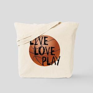 Live, Love, Play - Basketball Tote Bag