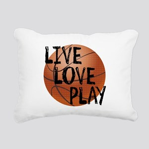 Live, Love, Play - Basketball Rectangular Canvas P