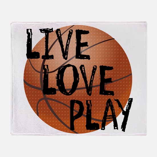 Live, Love, Play - Basketball Throw Blanket