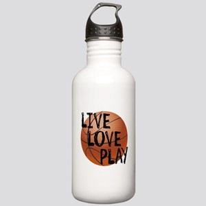 Live, Love, Play - Basketball Water Bottle