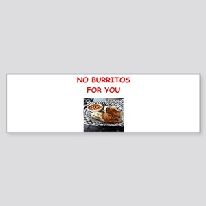 burritos Bumper Sticker