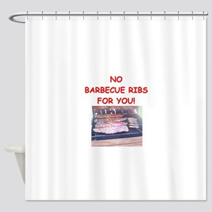 barbecue ribs Shower Curtain