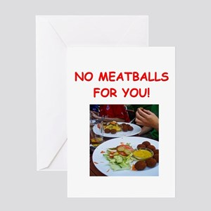 meatballs Greeting Cards