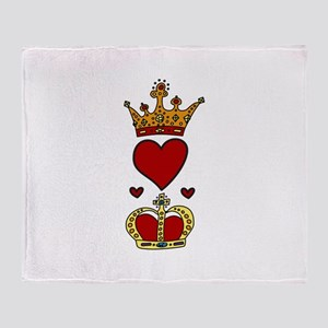 Crowns Throw Blanket