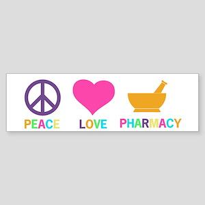 Peace love Pharmacy Bumper Sticker