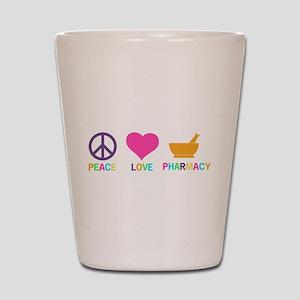 Peace love Pharmacy Shot Glass