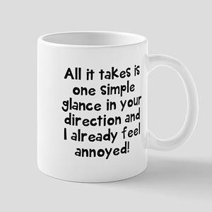 One simple glance annoyed Mugs