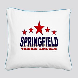 Springfield Thinkin' Lincoln Square Canvas Pillow
