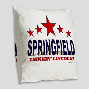 Springfield Thinkin' Lincoln Burlap Throw Pillow