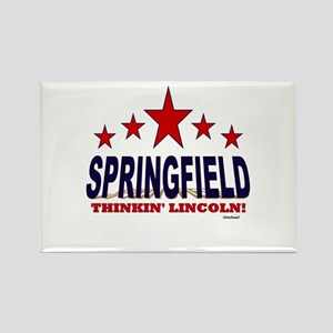 Springfield Thinkin' Lincoln Rectangle Magnet