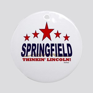 Springfield Thinkin' Lincoln Ornament (Round)