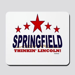 Springfield Thinkin' Lincoln Mousepad