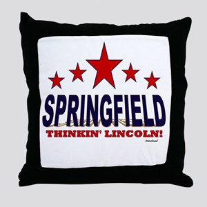 Springfield Thinkin' Lincoln Throw Pillow