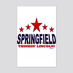 Springfield Thinkin' Lincoln Mini Poster Print