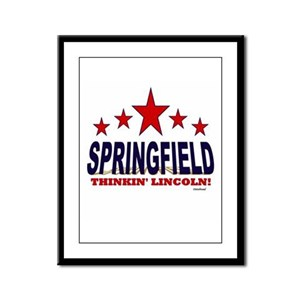 Springfield Thinkin' Lincoln Framed Panel Print