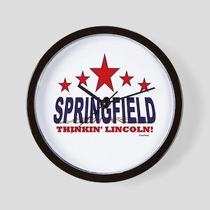 Springfield Thinkin' Lincoln Wall Clock