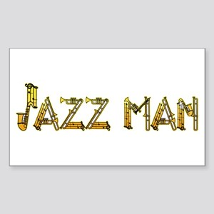 Jazz man sax saxophone Rectangle Sticker