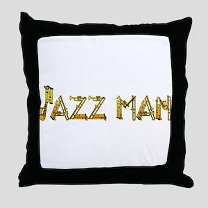 Jazz man sax saxophone Throw Pillow