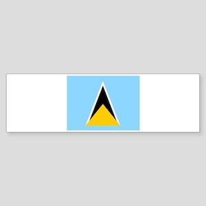 St. Lucia Flag Bumper Sticker