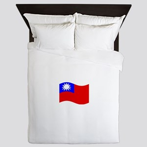 Waving Taiwan Flag Queen Duvet