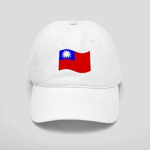 Waving Taiwan Flag Baseball Cap