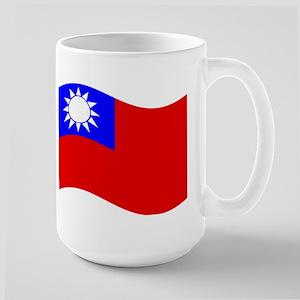 Waving Taiwan Flag Mugs