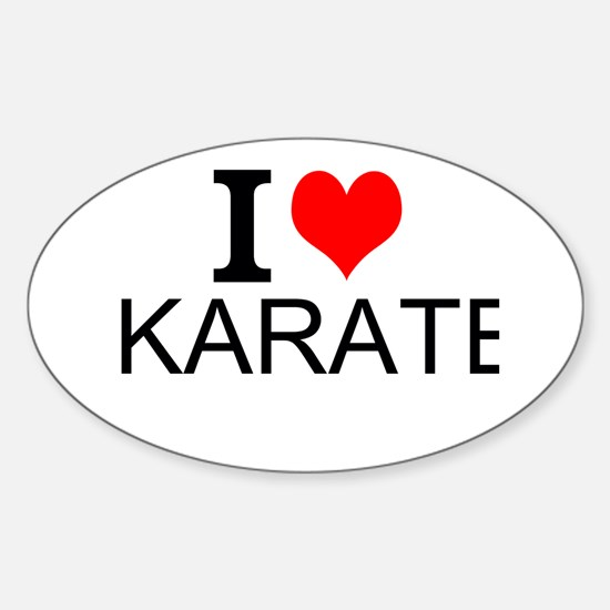 I Love Karate Decal