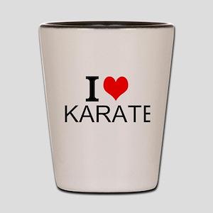 I Love Karate Shot Glass