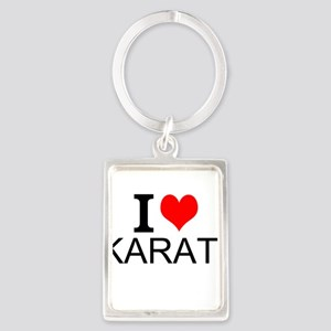 I Love Karate Keychains