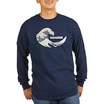 Hokusai Wave Long Sleeve Dark T-Shirt