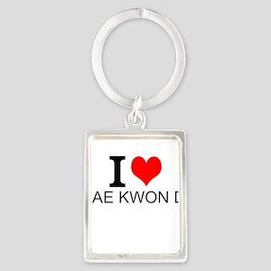 I Love Tae Kwon Do Keychains